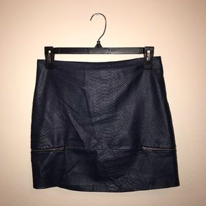 Lovers + friends leather skirt